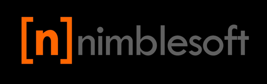 nimblesoft logo on black bg
